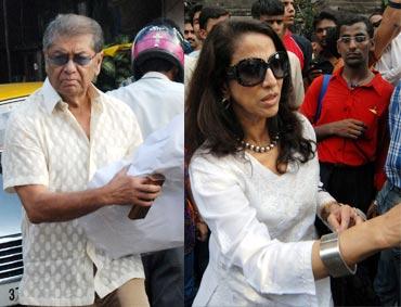 Dilip De and Shobhaa De