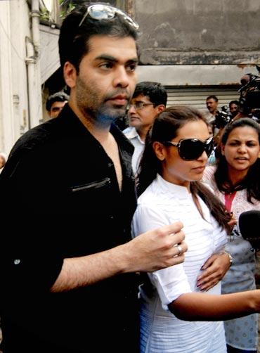 Karan Johar and Rani Mukerji