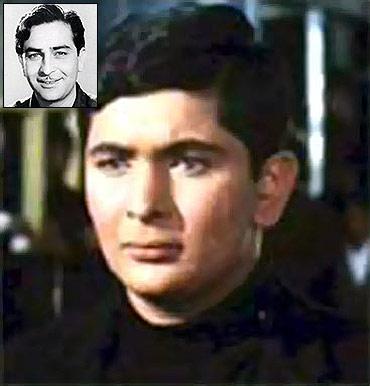 A still from Mera Naam Joker. Inset: Raj Kapoor