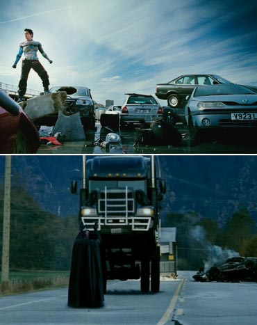 A scene from Ra.One and  X-Men-The Last Stand