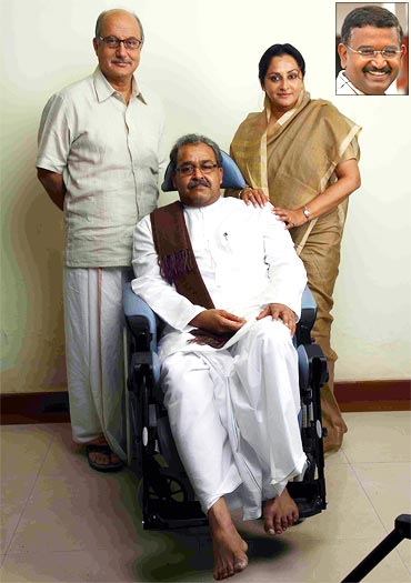A still from Pranayam. Inset: Director Blessey