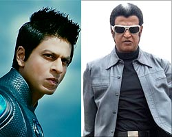 Shah Rukh Khan and Rajnikanth