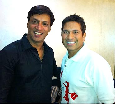 Madhur Bhandarkar and Sachin Tendulkar