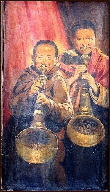 Two boys with Trumpet
