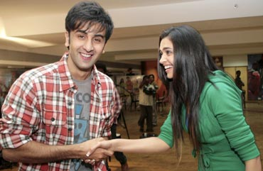 Ranbir Kapoor and Deepika Padukone