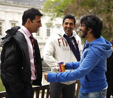 Akshay Kumar, John Abraham and Rohit Dhawan