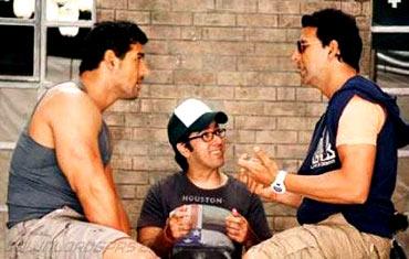 John Abraham, Rohit Dhawan and Akshay Kumar