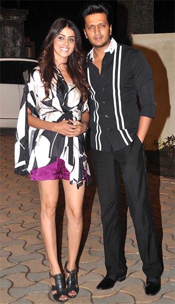 Genelia D'Souza and Riteish Deshmukh