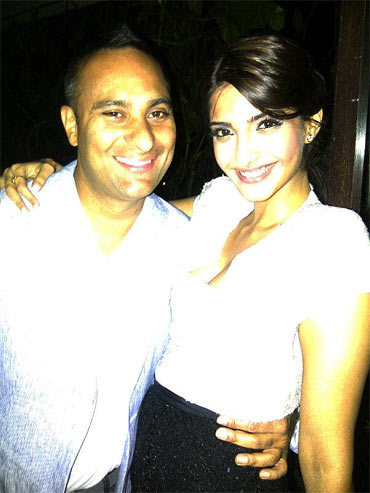 Sonam Kapoor with Russell Peters