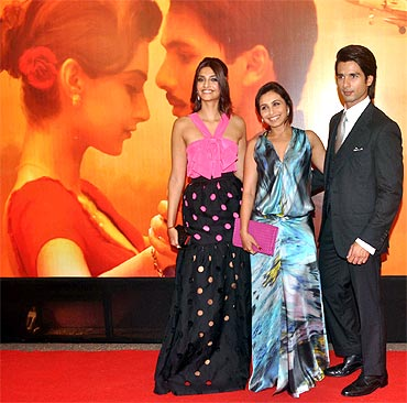Sonam and Shahid with Rani Mukerji
