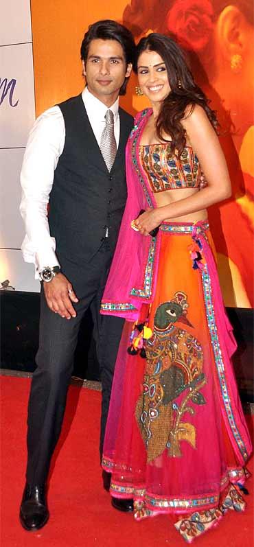 Shahid Kapoor and Genelia D'Souza