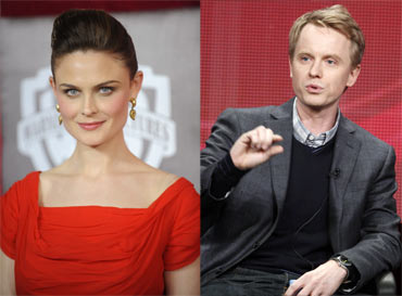 David Honsby and Emily Deschanel