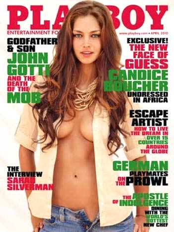 Candice Boucher on Playboy cover