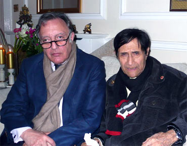 Mansoor Ali Khan Pataudi with Dev Anand