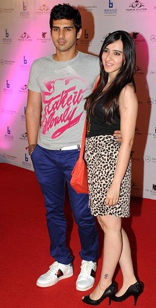 Samir Dattani with wife
