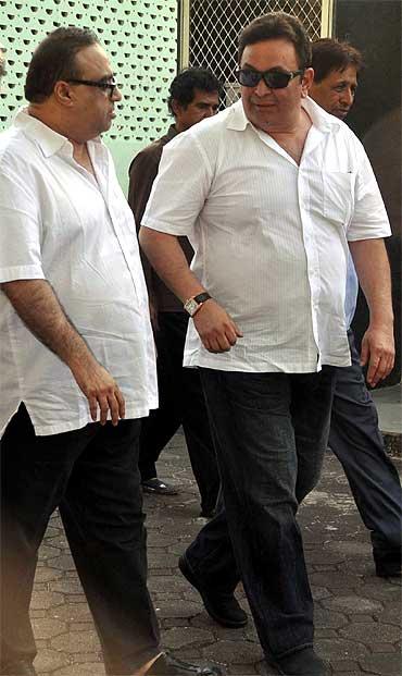Rajkumar Santoshi and Rishi Kapoor