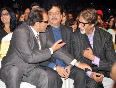 Dharmendra, Shatrughan Sinha and Amitabh Bachchan