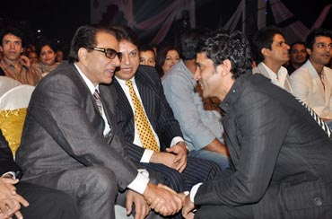 Dharmendra and Farhan Akhtar