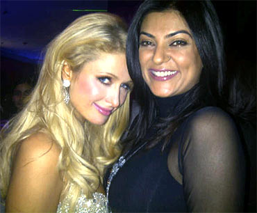 Paris Hilton and Sushmita Sen