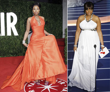 Jennifer Hudson (left- 2011, right- 2008)