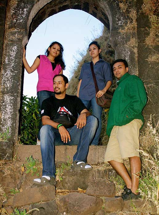 Sagar Thackar, Ritu Khandal, Charu Khandal, Vikrant Goyal (left to right)