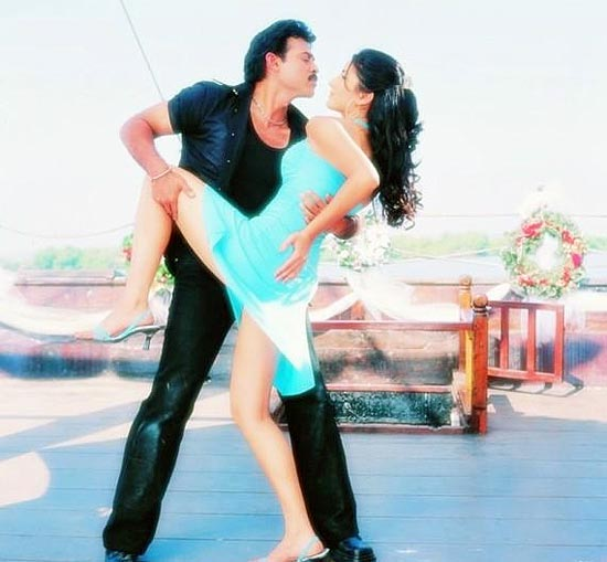 Katrina Kaif and Venkatesh in Malliswari