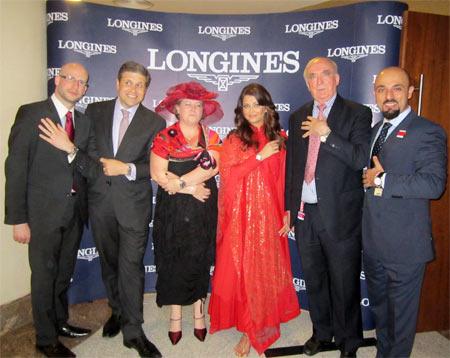 Aishwarya Rai Bachchan with the Longines team