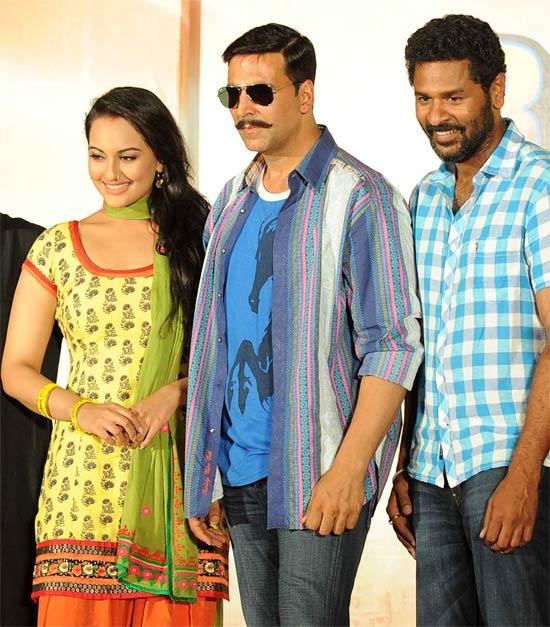 Akshay Kumar, Sonakshi Sinha and Prabhdueva