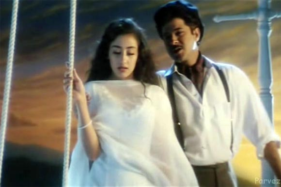 Manisha Koirala and Anil Kapoor in the song Kuch Na Kaho from 1942 A Love Story
