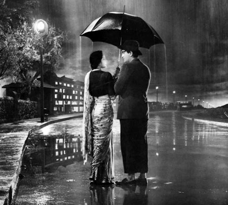 Nargis and Raj Kapoor in Shri 420