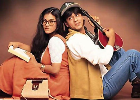 Kajol and Shah Rukh Khan in Dilwale Dulhania Le Jayenge