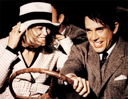 Warren Beatty and Faye Dunaway in Bonnie and Clyde