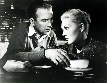John Stewart and Kim Novak in Vertigo