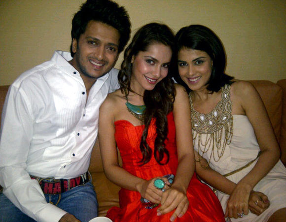 Riteish Deshmukh, Shazahn Padamsee and Genelia D'Souza