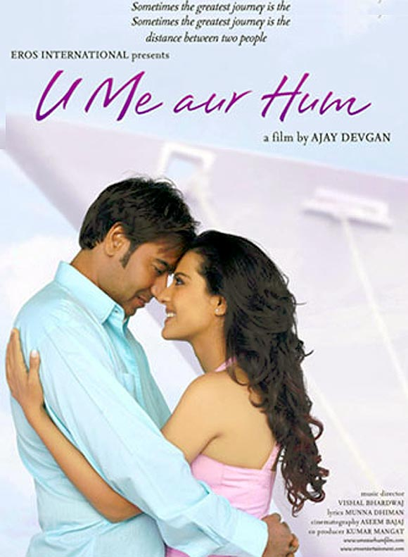 Ajay Devgn and Kajol in U Me Aur Hum