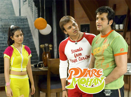 Amrita Rao, Viveik Oberoi and Fardeen Khan in Pyaare Mohan