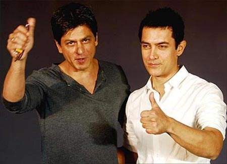 Shah Rukh Khan and Aamir Khan