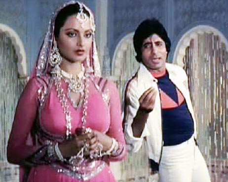 Rekha and Amitabh Bachchan in Muqaddar Ka Sikandar (1978)