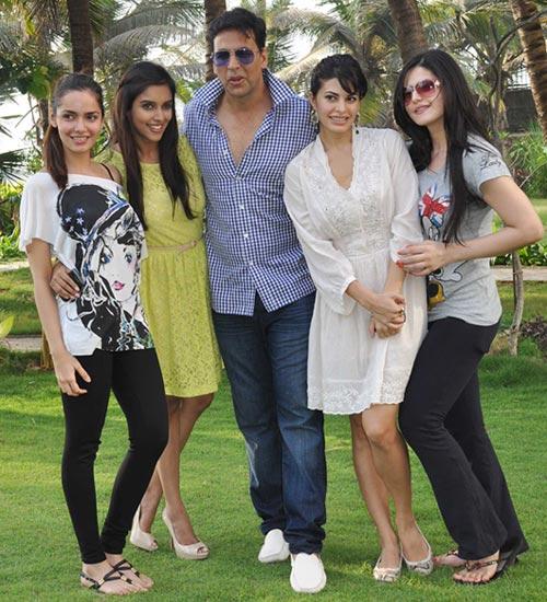 Shazahn Padamsee, Asin, Akshay Kumar, Jacqueline Fernandes and Zarine Khan
