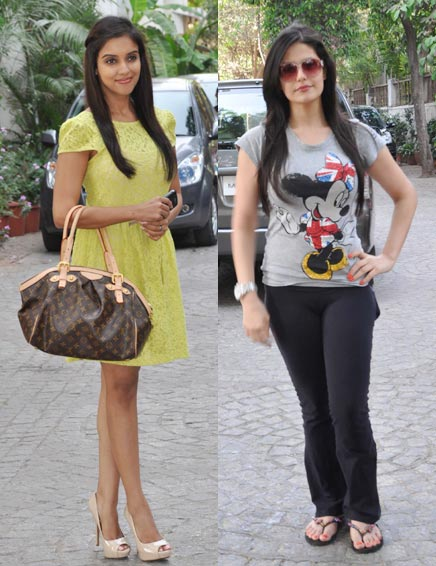 Asin and Zarine Khan