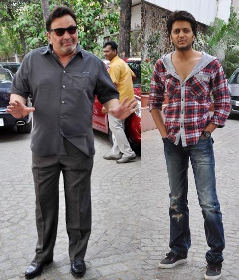 Rishi Kapoor and Riteish Deshmukh