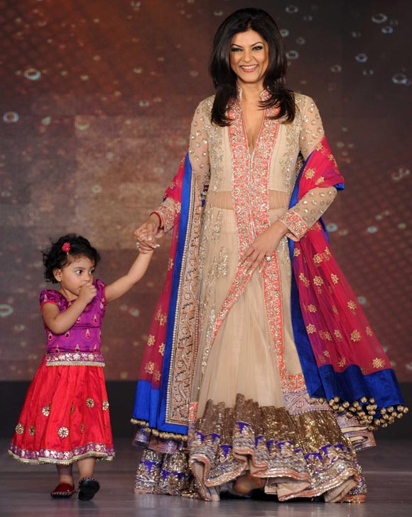 Sushmita Sen with younger daughter Alicia