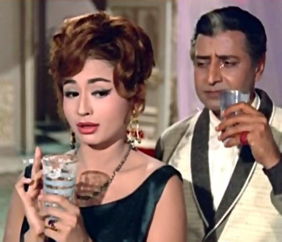 Pran and Helen in Gumnaam