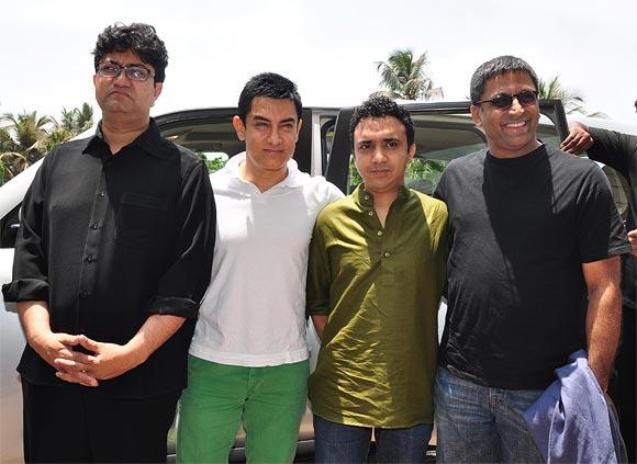 Prasoon Joshi, Aamir Khan, Ram Sampath, Ram Madhvani