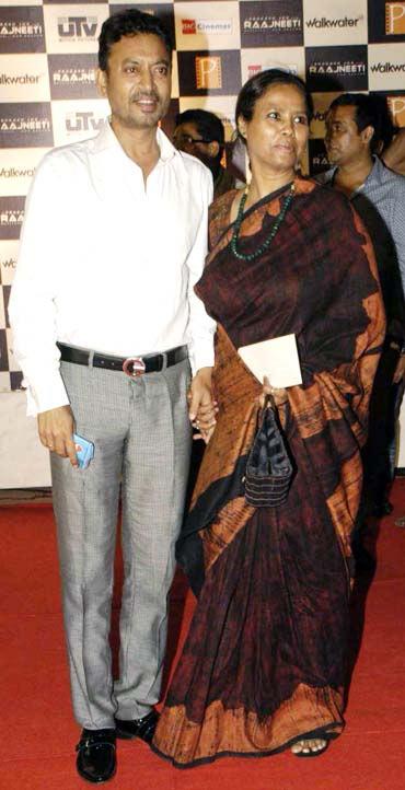 Irrfan Khan and Sutapa Sikdar
