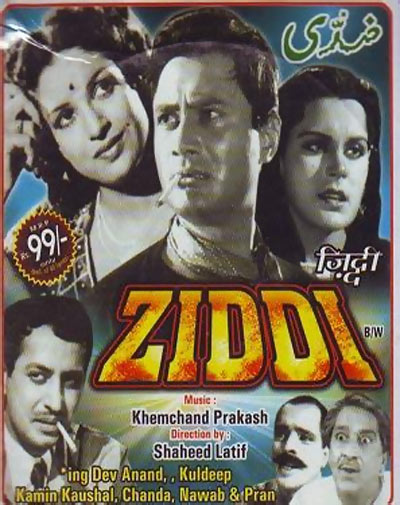 Movie poster of Ziddi