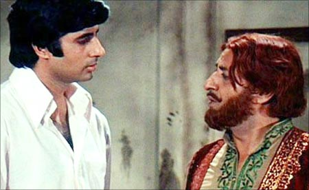 Amitabh Bachchan and Pran in Zanjeer