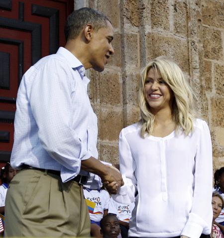 Barack Obama and Shakira