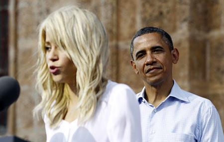 Shakira and Barack Obama