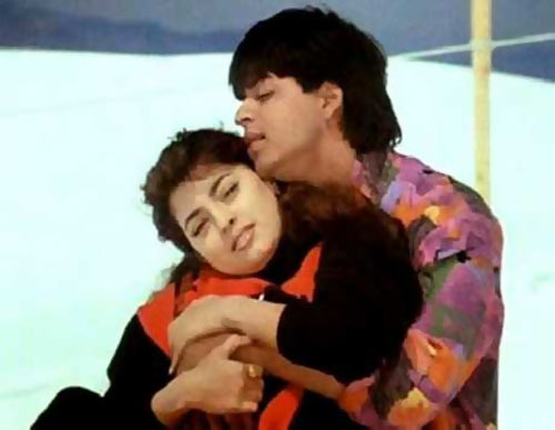Juhi Chawla and Shah Rukh Khan in Darr